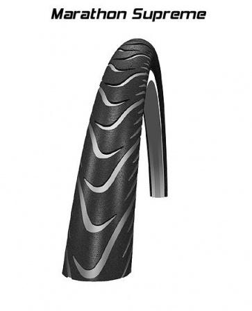 Schwalbe marathon supreme bicycle tyre tire 700x32C folding