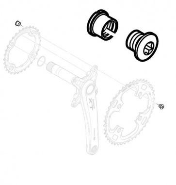 Shimano FC-M771-K Chainring Fixing Bolt Nut Y1J298020
