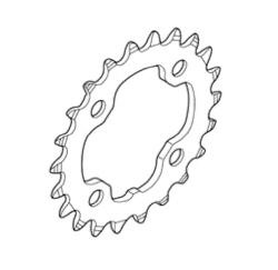 Shimano FC-M782 Chainring 22T 3x10SP Y1NV22000