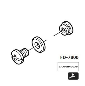 Shimano FD-7800 Chain guide fixing bolt Y5HX98020