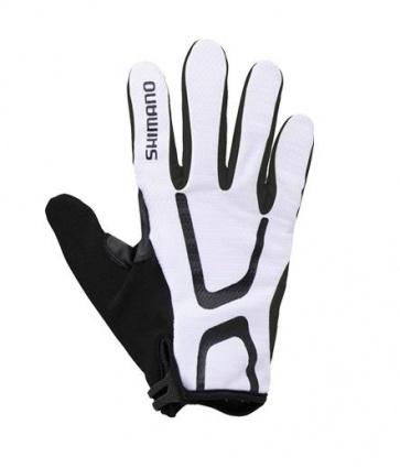 Shimano Light Gloves Long Finger Bicycle White Black