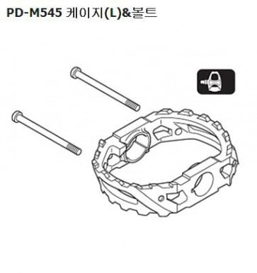Shimano PD-M545 pedal cable and bolts left Y41F98050