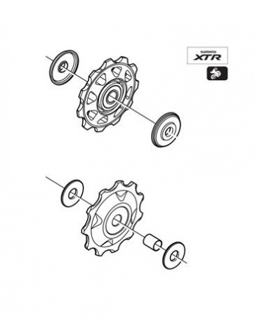 Shimano Pulley Set XTR RD-M970 Y5VW98100