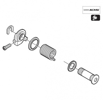 Shimano RD-5600 B Axle Assembly SS Y5VN98010