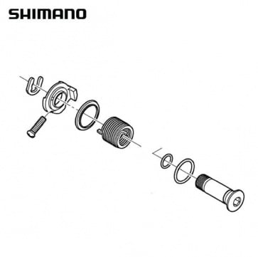 Shimano RD-6700 B Axle Assembly Y5X998010
