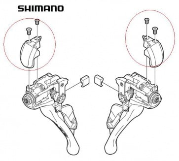 Shimano ST-9000 Name Plate Left Y63Z98020