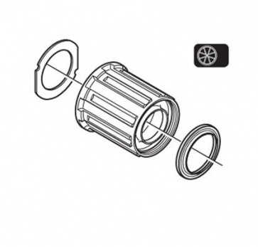 Shimano WH-M505-R Freewheel Body Y4CH98030