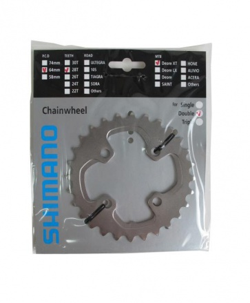 Shimano XT FC-M785 chainring 28T 64mm Y1ML28000