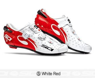 Sidi Wire Carbon Road Bike Shoes Cycling White Red