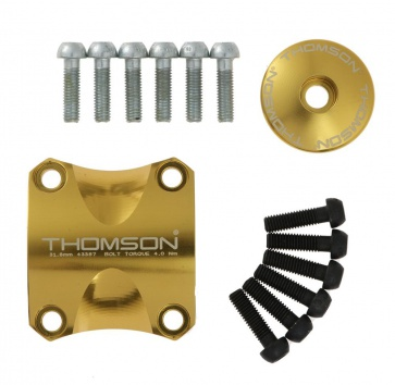 THOMSON X4 DRESS KIT CLAMP/TOP CAP/6 BOLTS GOLD
