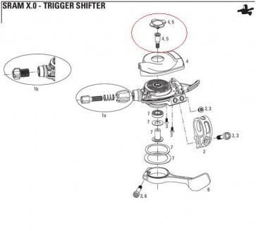Sram XO Shifter Trigger Cover Top Cap 00.0000.200.929