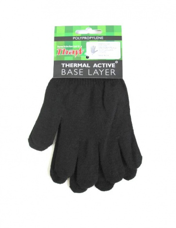Thaw Thermal Active Base Layer gloves black