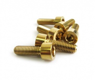 Tiparts M5x16mm Stem Bolts Kit Gold Color