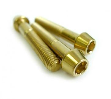 Tiparts Titanium Head Cap Taper Bolt M6x35mm Gold