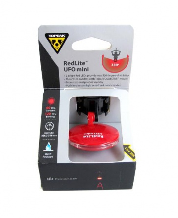Topeak RedLite UFO Mini-Red Rear Safety Lamp Red