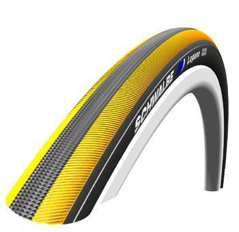 Schwalbe Lugano 700x23 Tyre Tire Kg Yellow Stripe Wire