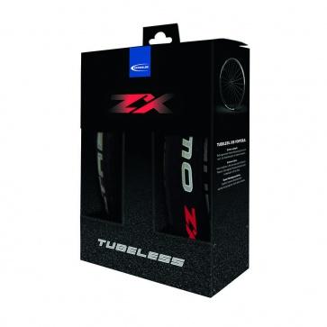 700x23 SCHWALBE ULTREMO ZX TUBELESS BLACK FLDG *PAIR w/Doc Blue*