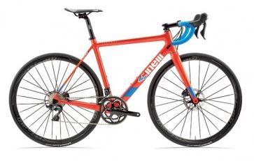 Cinelli Veltrix Disc Bike Blue Burns Orange