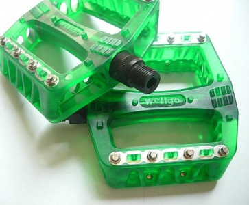 Wellgo BMX Bicycle Pedals Bike B108RP Green