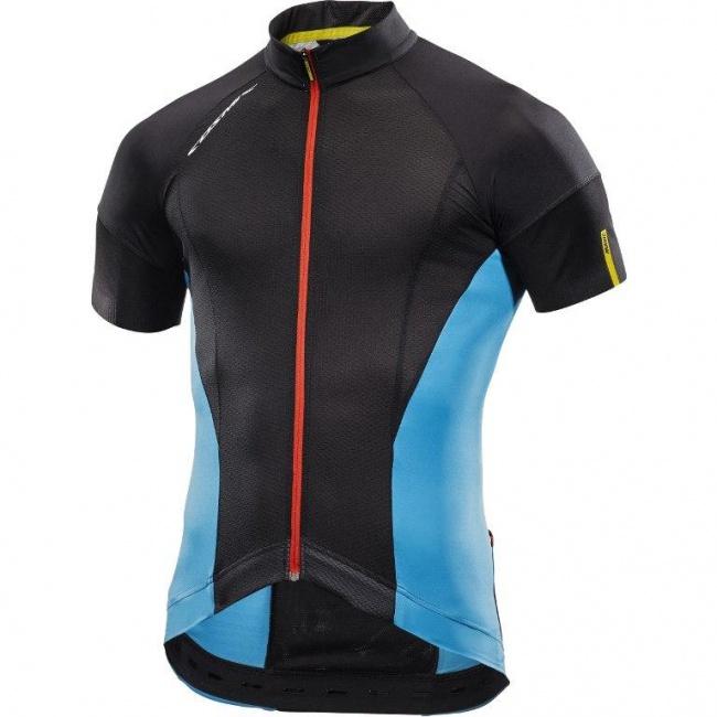 pretty nice hot sale top design Mavic Cosmic Pro Jersey 2017 - Black/Dresden Blue