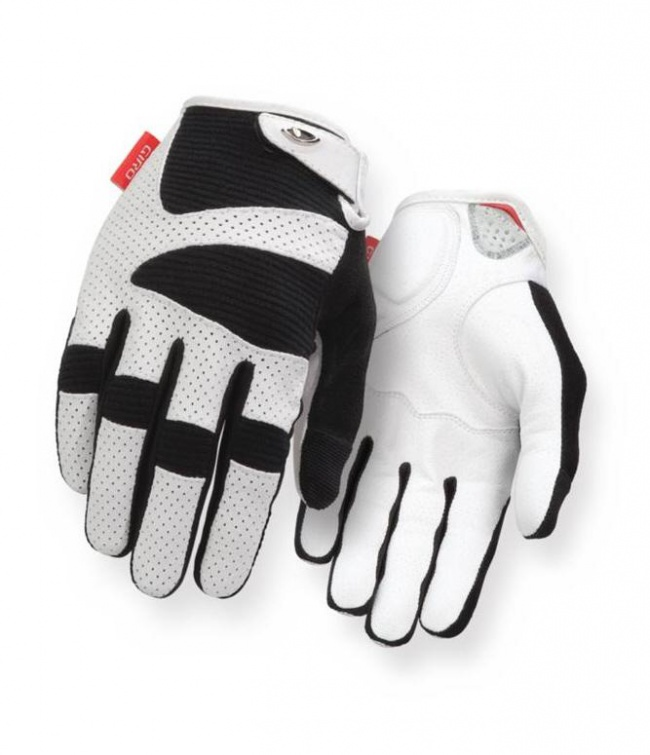 Giro Lx Long Finger Bicycle Cycling Gloves White