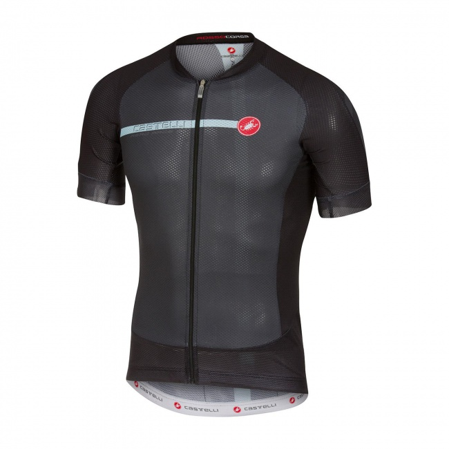Castelli Aero Race 5.1 Short Sleeve Jersey Charcoal · Zoom 072b9d53c