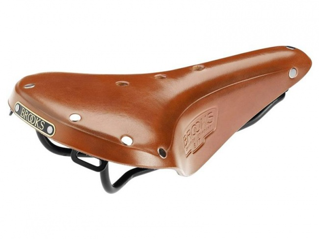 49643d0471 BROOKS B17 S standard bicycle cycling saddle seat honey leather