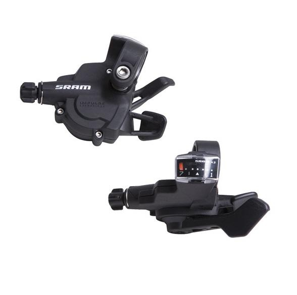 SRAM X3 Trigger Shifter Set 3 X 7 Speed Compatible With Shimano