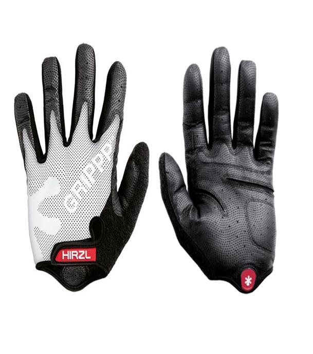 Hirzl Grippp Cycling Gloves Tour Ff Kangaroo Long Fingers White
