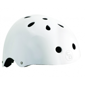 Curb Dog Helmet Shredder White Gloss One Size
