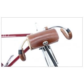 AlphaOne Leather SB-15002-B Handlebar Bag