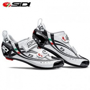 SIDI T-3 Triathlon Cycling Shoes Air Carbon White Black