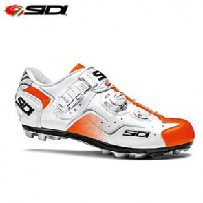 Sidi Cape MTB Shoes Bicycle Cycling White Orange Fluo