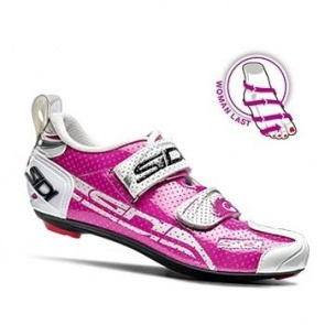 Sidi 2016 T-4 Air Carbon Composite Woman Triathron Shoes Fuxia White