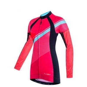 Funkier Luciana-L Womens Long Sleeve Cycling Jersey Coral