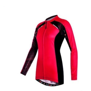 Funkier Firenze-L Womens Long Sleeve Summer Cycling Jersey Red