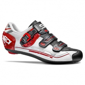 Sidi Genius 7 Road Bike Cycling Shoes White Black Red