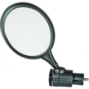 "Action Mirror End Oval 3x3.5"" Black"