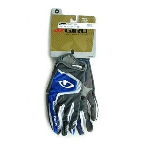 2011 Giro Rivet Gloves Bicycle BIke Cycling BlueBlack