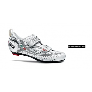 SIDI T-3 Triathlon Cycling Shoes Air Carbon White Silver