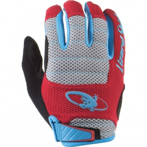 Lizard Skins Monitor AM Full Finger Gloves -Crimson/Electric blue