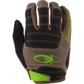 Lizard Skins Monitor AM Full Finger Gloves - Olive/Jet Black