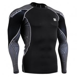 FIXGEAR C3L-B70 Skin-tight Compression Base Layer Shirt Training Workout Gym MMA