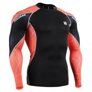 FIXGEAR C3L-B70R Skin-tight Compression Base Layer Shirt Training Workout Gym MMA