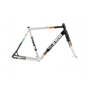 Cinelli Zydeco Aluminum Cross Tour Frame - Rainbow 61cm