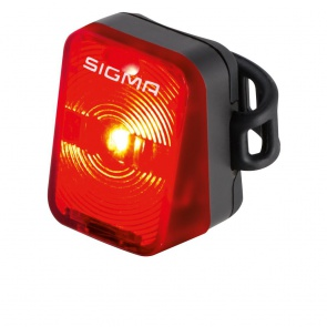 Sigma Nugget Rear Light - Black, Red