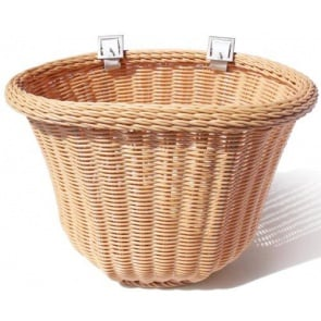 Colorbasket Cord Strap-on Tan Front Handlebar Bike Basket Natural Color