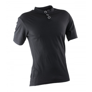 Race Face Henley Jersey Short Sleeve Black