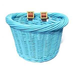 Colorbasket Wicker Jr Strap-on Bike Basket Blue