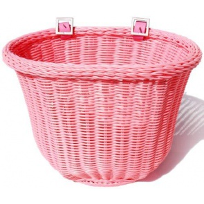 Colorbasket Cord Strap-on Front Handlebar Bike Basket Pink